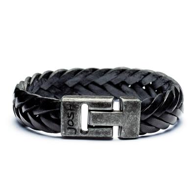 Josh Vintage Black Armband 24001-BRA-VB-BLACK (Lengte: 20-22 cm)