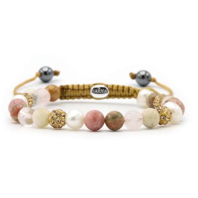 Karma Spiral Soft Pearls Armband 83608 (Lengte: 17.50-19.00 cm)cm