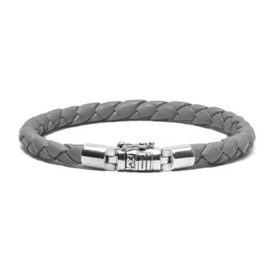 Buddha to Buddha Ben XS Round Leather Graphite Armband BTBJ545GA (Lengte: 18.00-21.00 cm)