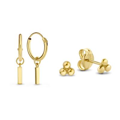 Isabel Bernard Noélle 14 Karaat Gouden Earparty Giftset IB90022