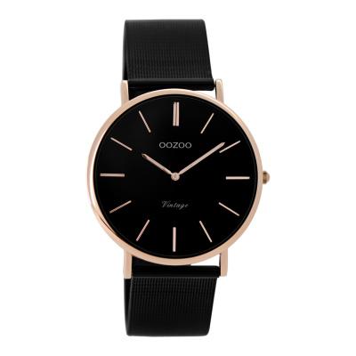 OOZOO Vintage Zwart horloge C8870 (36 mm)