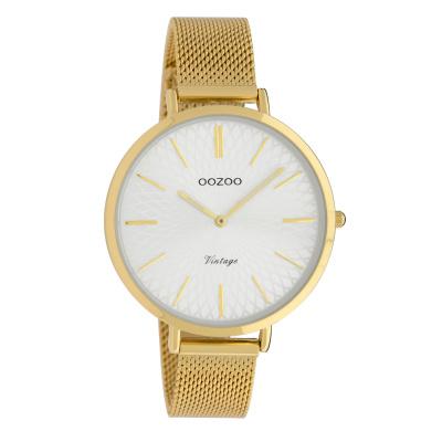 OOZOO Vintage Goudkleurig/Zilverkleurig horloge C9863 (40 mm)