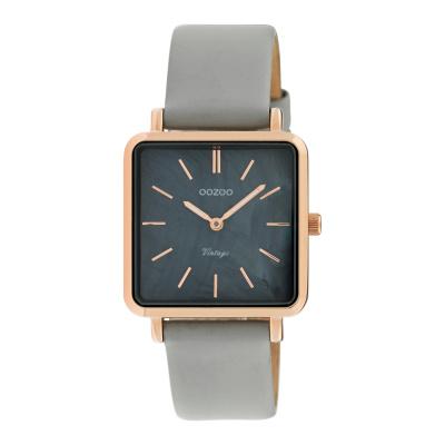OOZOO Vintage Grijs/Zwart horloge C9947 (29 mm)