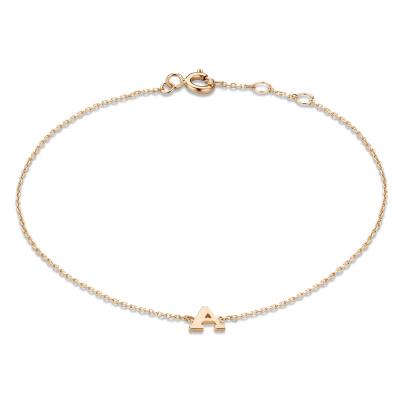 Isabel Bernard La Concorde Rachel 14 Karaat Rosé Gouden Initial Armband IB320042 (Letter: A-Z)