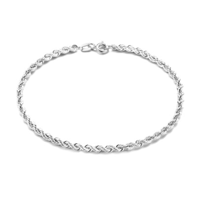 Isabel Bernard Saint Germain Violette 14 Karaat Wit Gouden Armband Twist IB320048