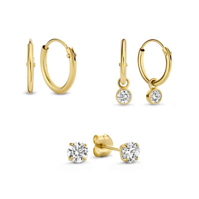 Isabel Bernard 14 Karaat Gouden Earparty Giftset IB90016