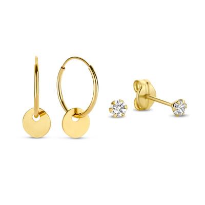 Isabel Bernard 14 Karaat Gouden Earparty Giftset IB90024