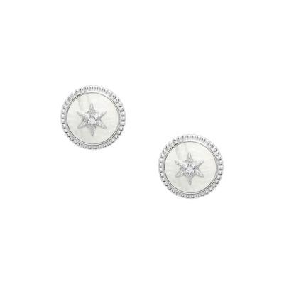Fossil 925 Sterling Zilveren Oorbellen JFS00500040
