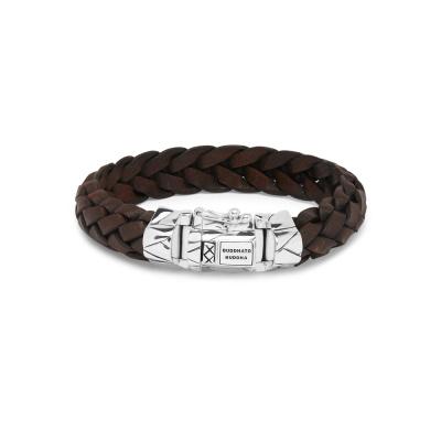 Buddha to Buddha Mangky Leather Armband 127BR (Lengte: 19.00-23.00 cm)
