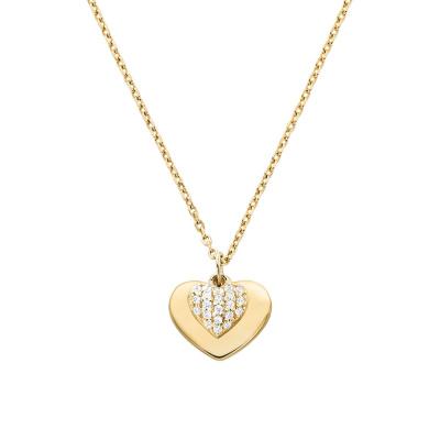 Michael Kors Zilveren Goudkleurige Love Ketting MKC1120AN710 (Lengte: 46.00 cm)