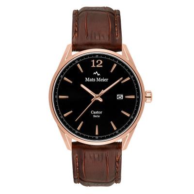 Mats Meier Castor Zwart/Bruin horloge MM01005