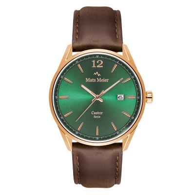 Mats Meier Castor Groen/Rosegoudkleurig horloge MM01012