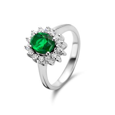 Parte Di Me Mia Colore Verdi 925 Sterling Zilveren Ring PDM33016