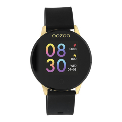 OOZOO Zwart/Goud Display Smartwatch Q00120