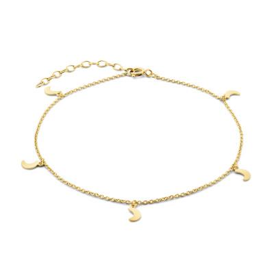 Selected Jewels Julie Louna 925 Sterling Zilveren Goudkleurig Enkelbandje SJ310007
