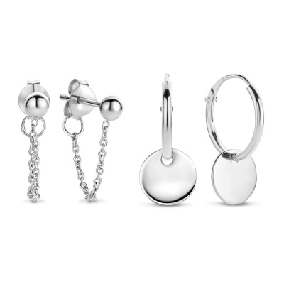 Selected Jewels 925 Sterling Zilveren Mila Marit Earparty SJSET040279