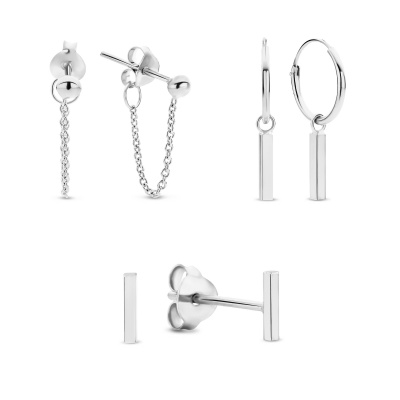 Selected Gifts 925 Sterling Zilveren Set Oorbellen SJSET380009