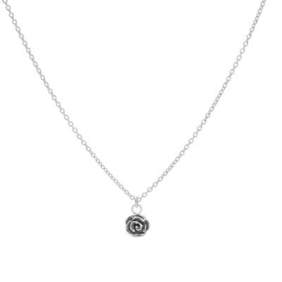 Karma 925 Sterling Zilveren Flower Ketting T233 (Lengte: 38.00-45.00 cm)