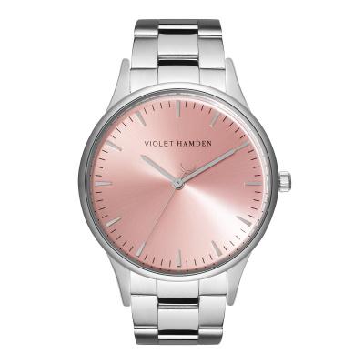 Violet Hamden Moon Phase Silver Colored/Pink horloge VH05030