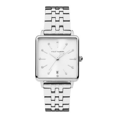 Violet Hamden Dawn Zilverkleurig/Wit horloge (34 mm) VH09001