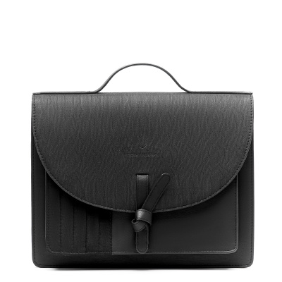 Violet Hamden Essential Bag Midnight Black Satchel VH21001