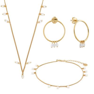 Violet Hamden Luminous Lake 925 Ezüst arany színű ékszer ajándékkészlet VH90015